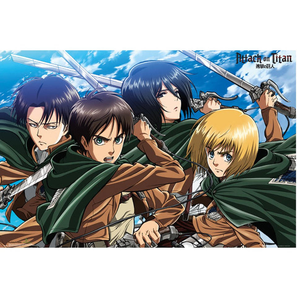attack-on-titan-four-swords-maxi-poster-61-x-915cm