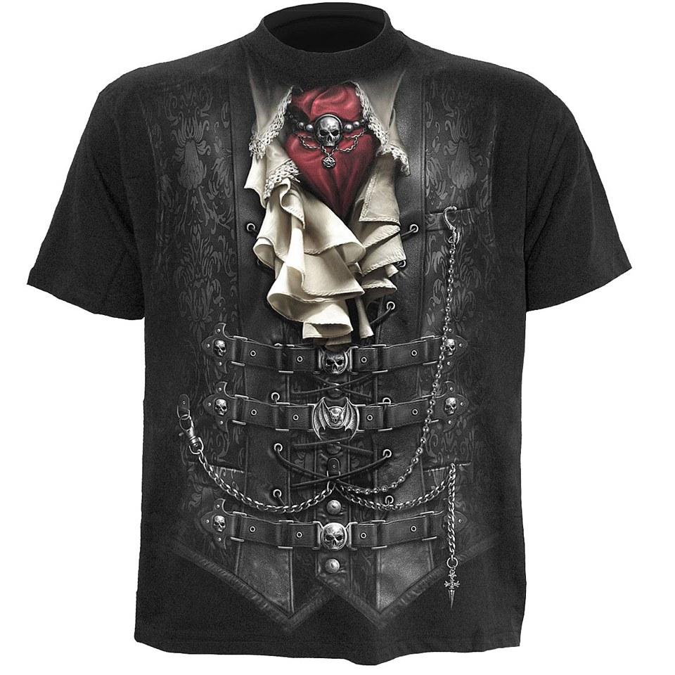 spiral-men-waisted-t-shirt-black-l