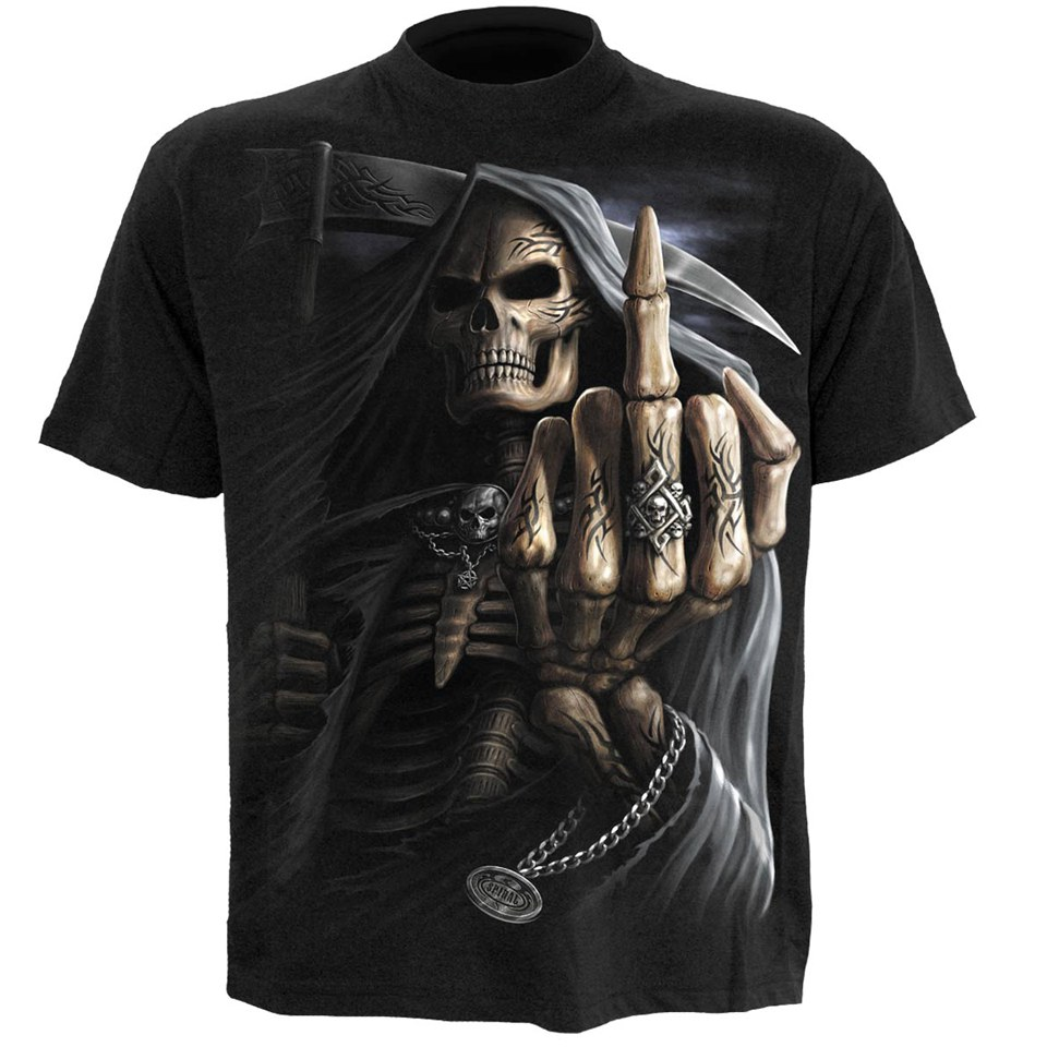 spiral-men-bone-finger-t-shirt-black-s