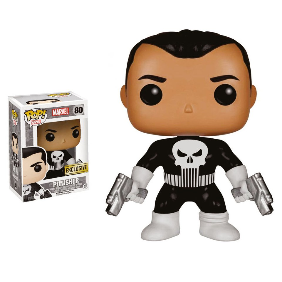 Marvel The Punisher Exc Pop Vinyl Bobble Head Figure