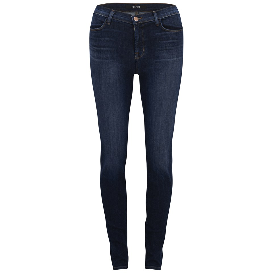 J Brand Womenu0026#39;s Maria High Rise Skinny Leg Jeans - Oblivion - Free UK Delivery over u00a350