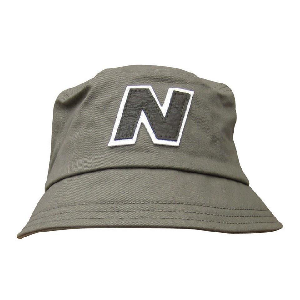 b091c0afdaf822 New Balance Men's Glasto Cotton Bucket Hat - Dark Green/White ...