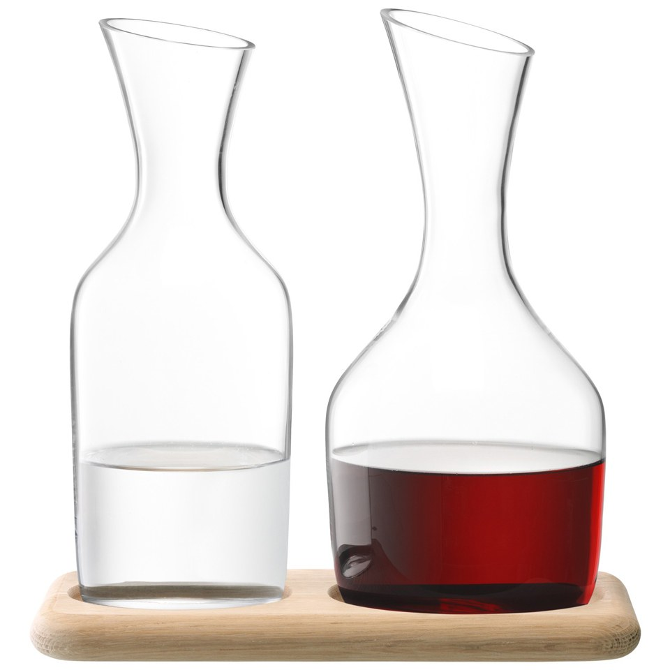 lsa-water-wine-carafe-set-with-oak-base