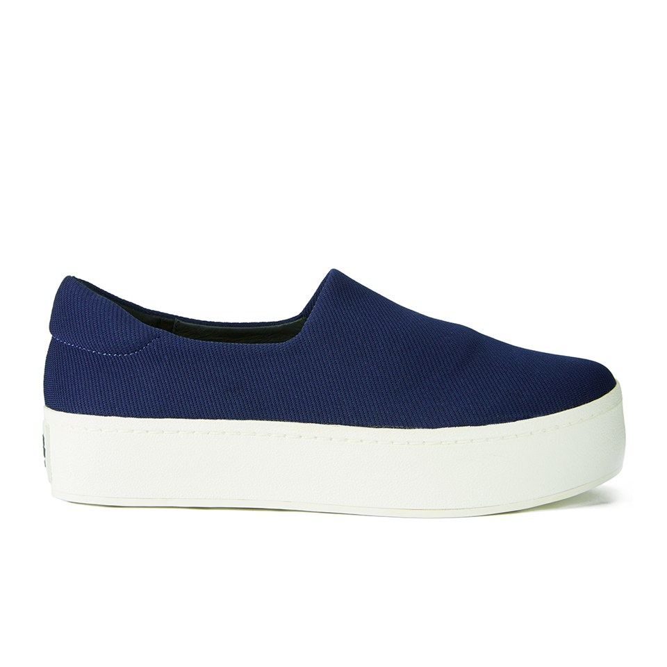 Opening Ceremony Women Slip Platform Sneakers Navy