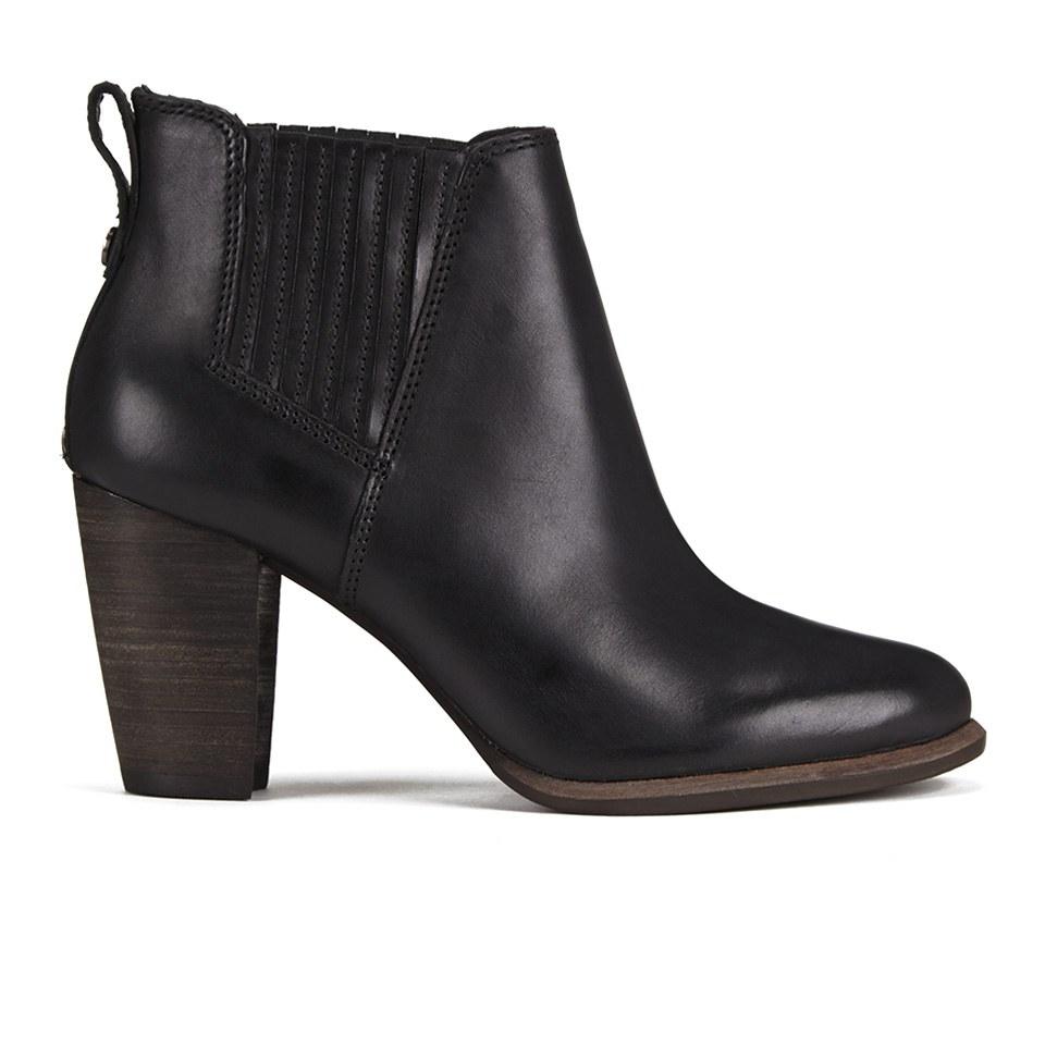 ugg s poppy heeled ankle boots black clothing