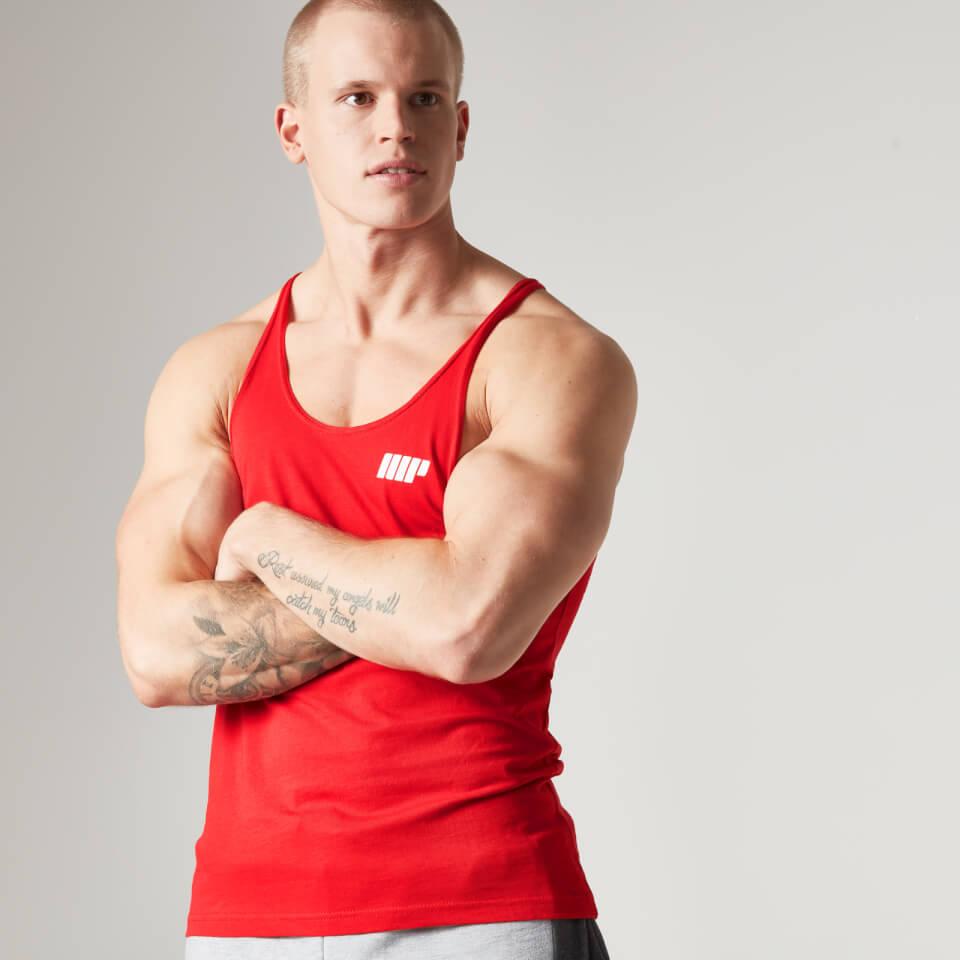 Myprotein Mens Longline Stringer Vest, Red, S
