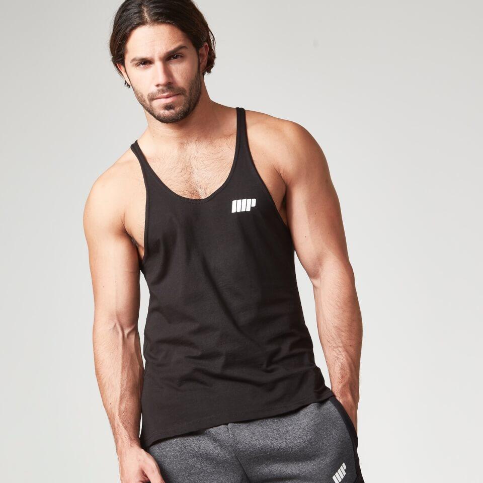 Foto Myprotein Men's Longline Stringer Vest, Black, XXL