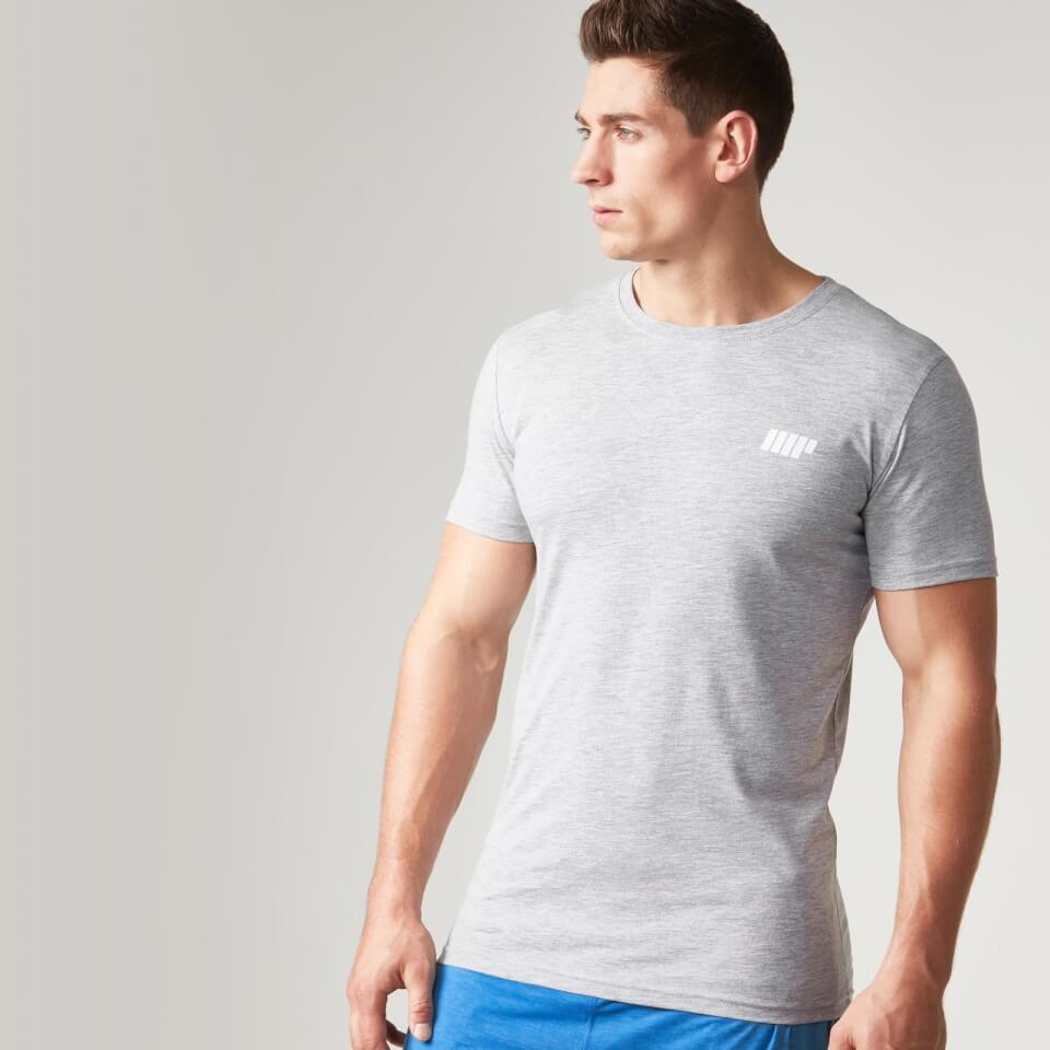 Foto Myprotein Men's Longline Short Sleeve T-Shirt, Grey Marl, M Camicie e top