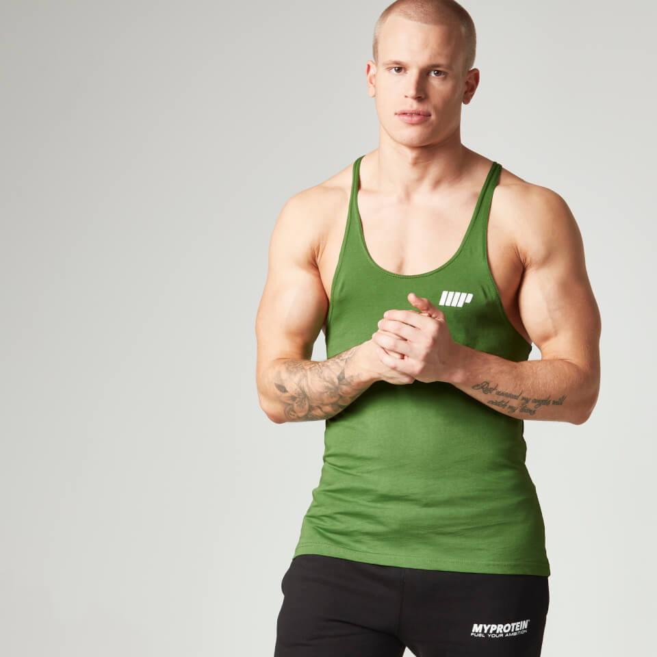 Foto Myprotein Men's Longline Stringer Vest, Green, XXL Vesti