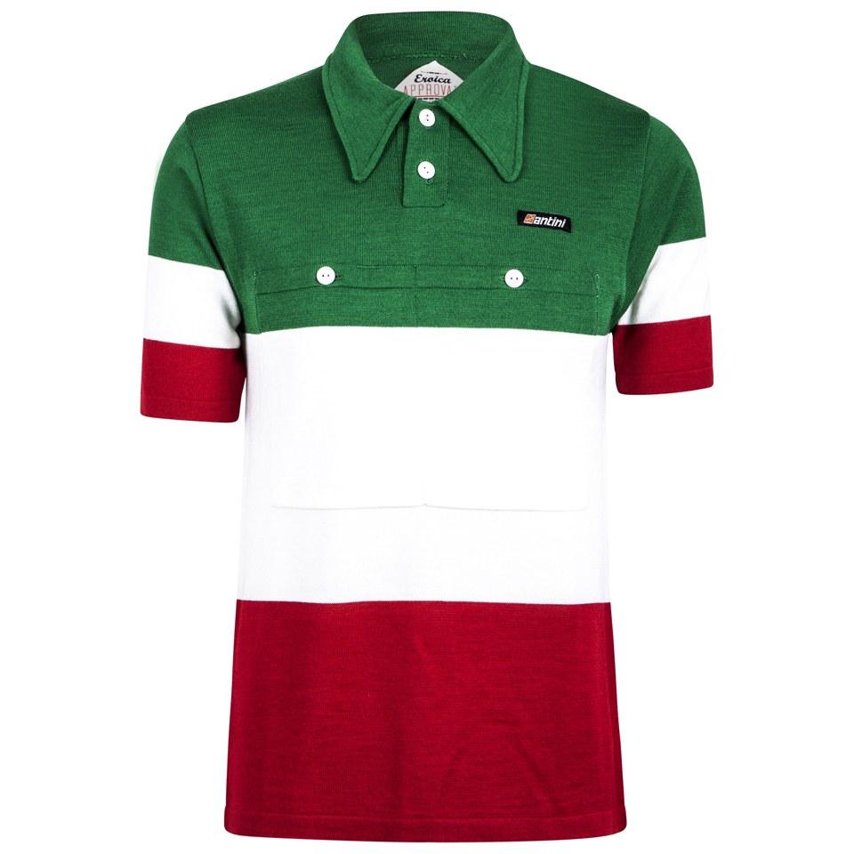 santini-60s-campione-ditalia-heritage-series-polo-shirt-redwhitegreen-l