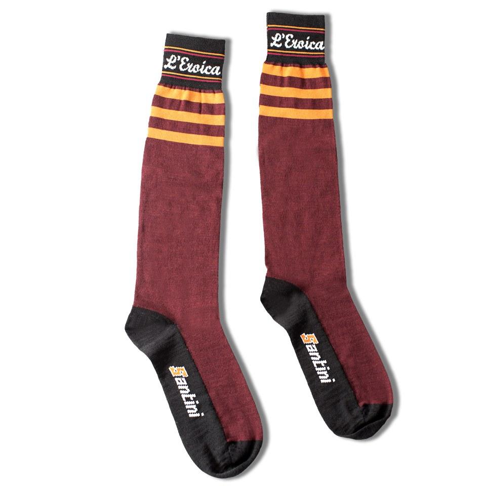 santini-eroica-high-profile-wool-socks-black-ml