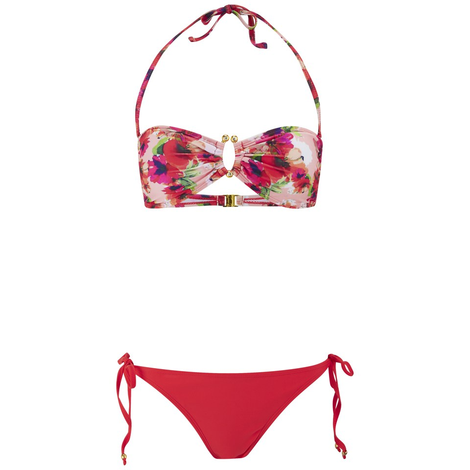south-beach-women-floral-bandeau-bikini-pink-14