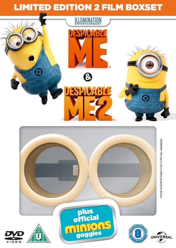 Despicable Me 1 & 2 Minion Limited Edition Goggles DVD   Zavvi.com