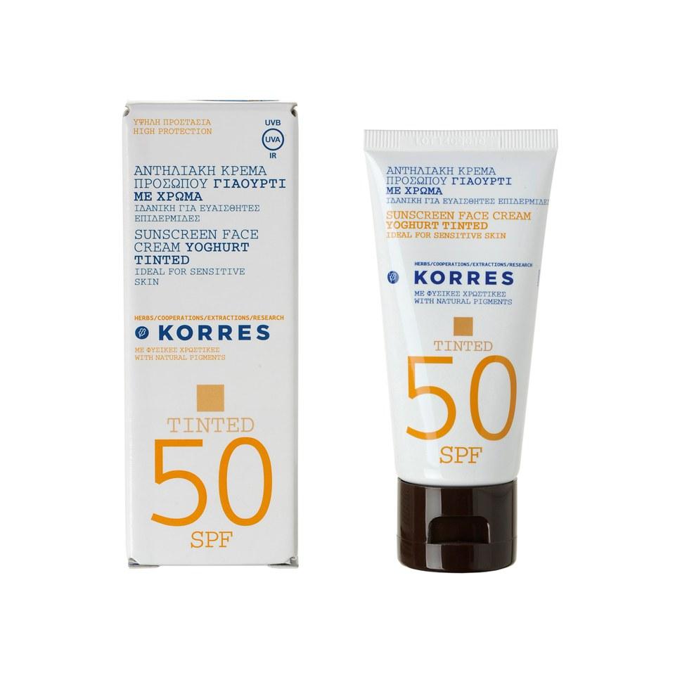 Korres Tinted Yoghurt Sunscreen SPF50 (50ml)