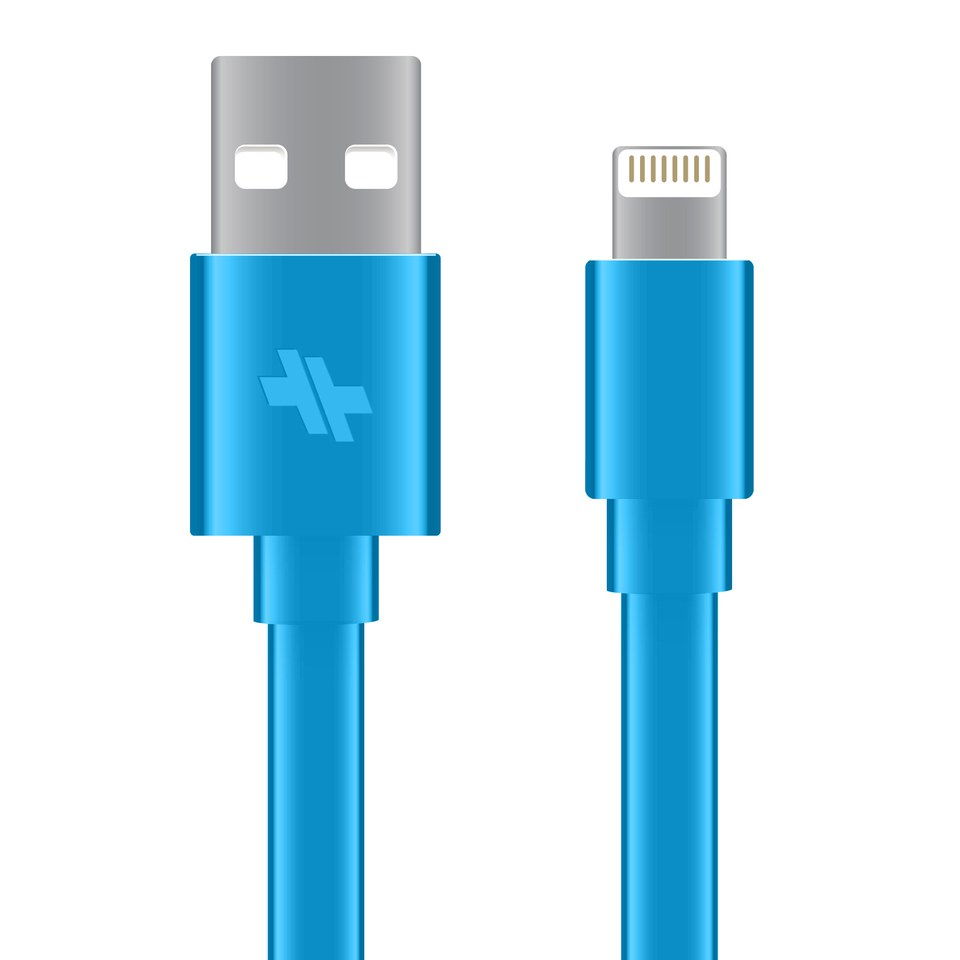 swiss-mobility-synccharge-flat-cable-4ft-lightning-devices-turquoise