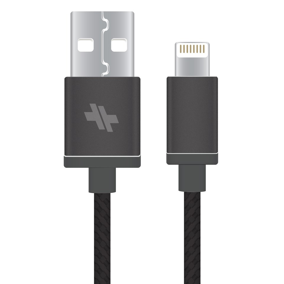 swiss-mobility-alloy-series-synccharge-rugged-cable-6-ft-for-lightning-devices-gunmetal