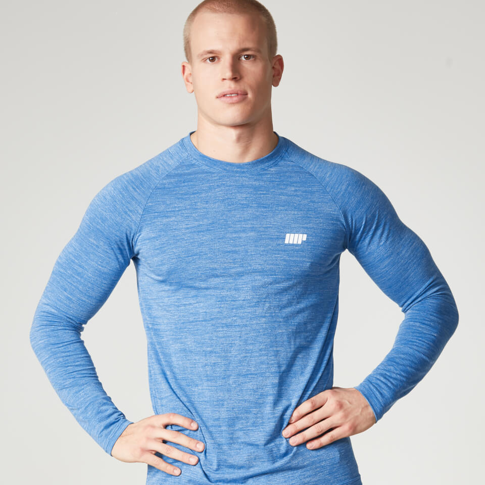 Foto Myprotein Men's Performance Long Sleeve Top, Blue Marl, L Camicie e top