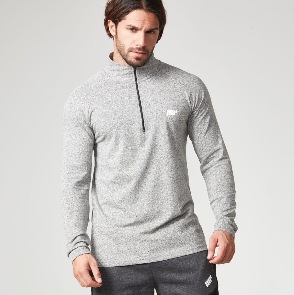 myprotein-men-performance-long-sleeve-14-zip-top-grey-marl-s