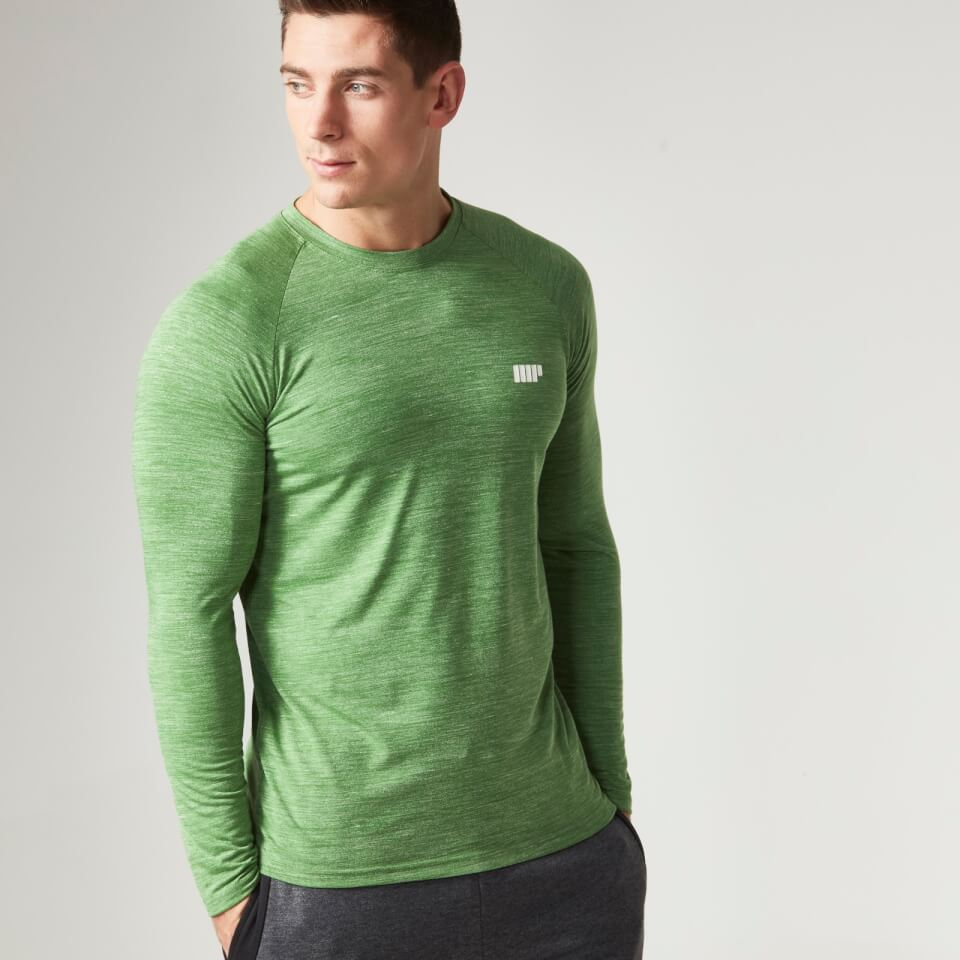 Foto Myprotein Men's Performance Long Sleeve Top, Green Marl, M Camicie e top