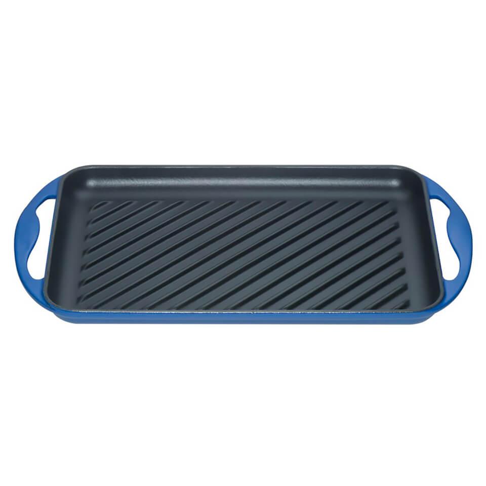 le-creuset-cast-iron-325cm-rectangular-grill-marseille-blue