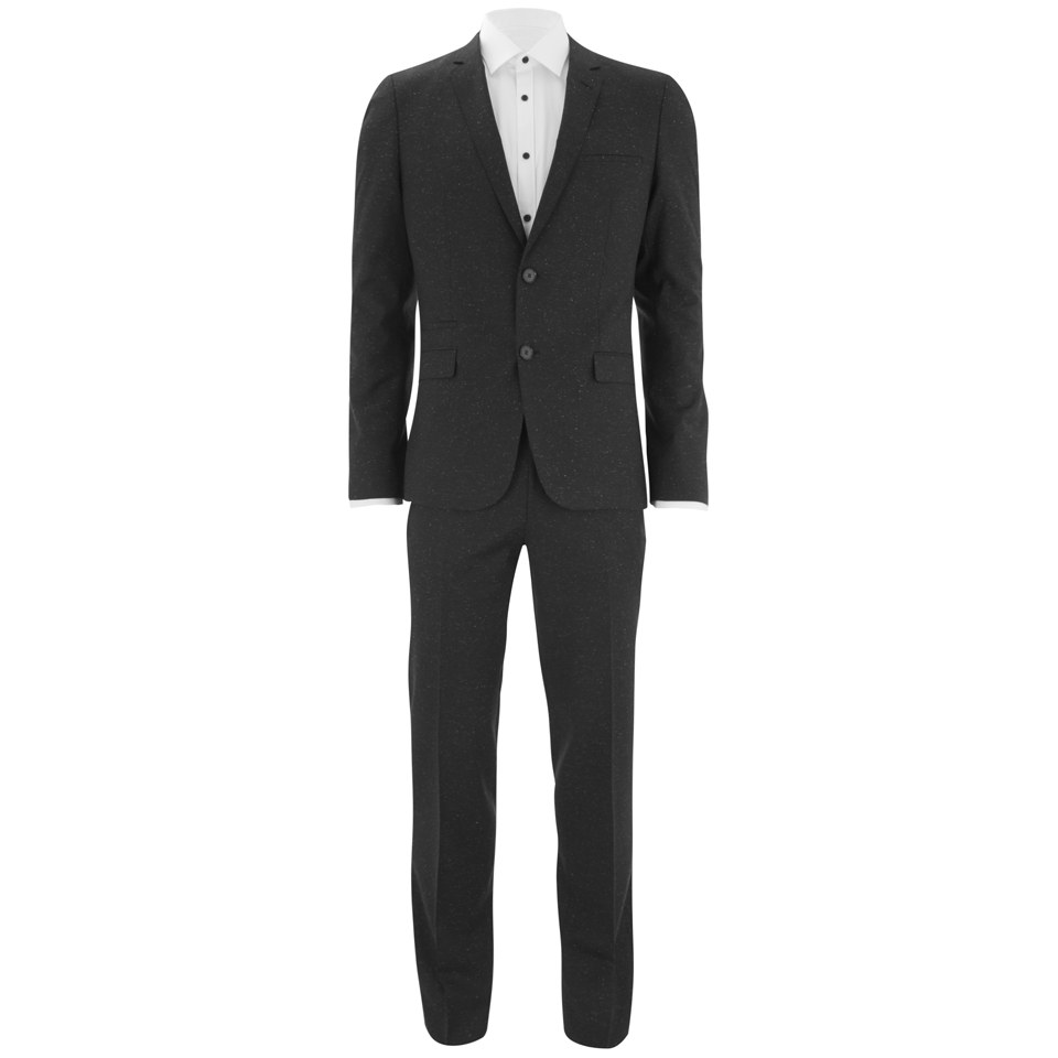 hugo men 39 s extra slim fit white fleck 2 piece suit black white fleck clothing. Black Bedroom Furniture Sets. Home Design Ideas