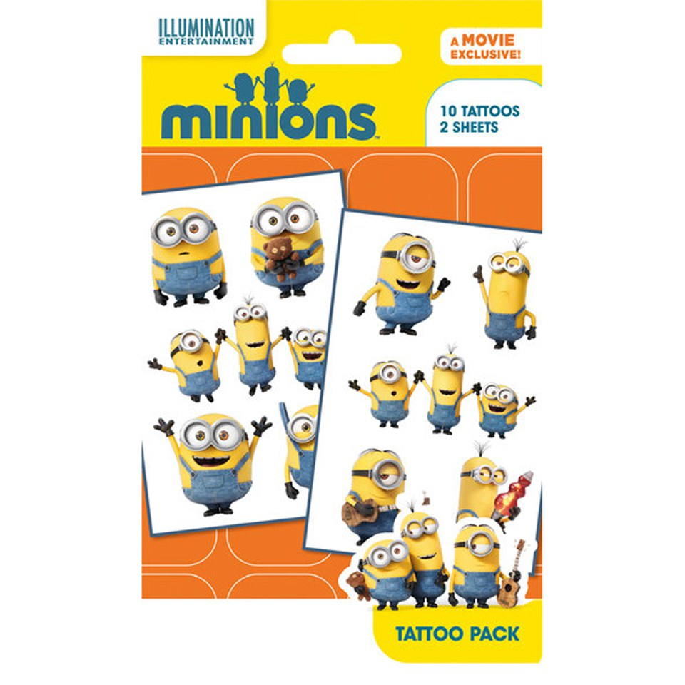 Minions Mix 1 Tattoo Pack