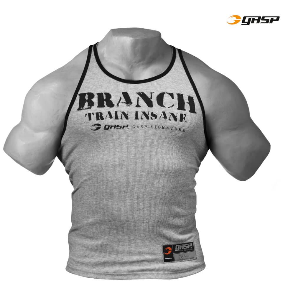 gasp-rib-t-back-vest-grey-melange-s-harmaa