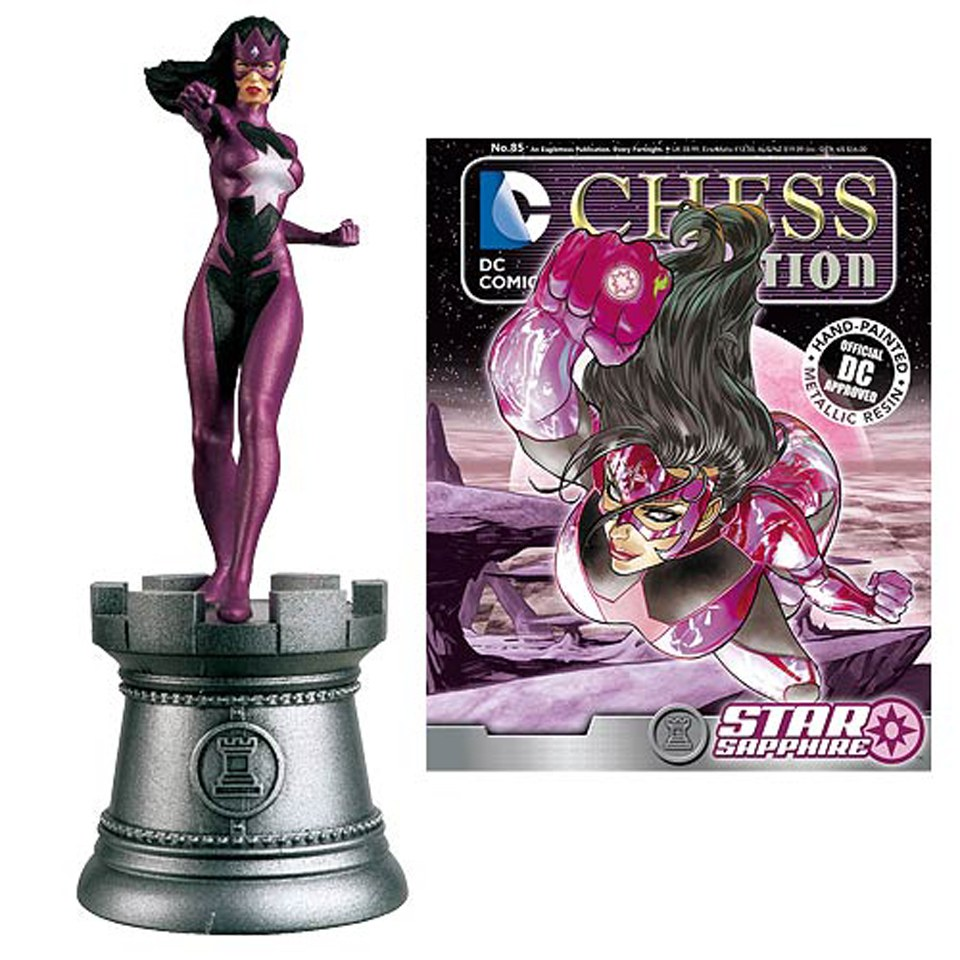 dc-comics-star-sapphire-white-rook-chess-piece-with-collector-magazine