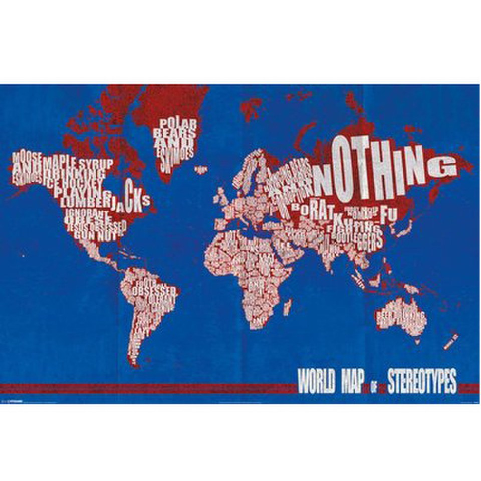World map stereotypes 24 x 36 inches maxi poster merchandise zavvi gumiabroncs Image collections