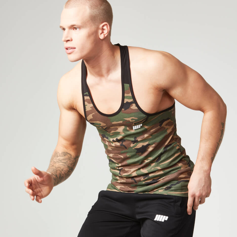 Foto Myprotein Men's Camo Tank Top - Black Trim, XX Large Camicie e top