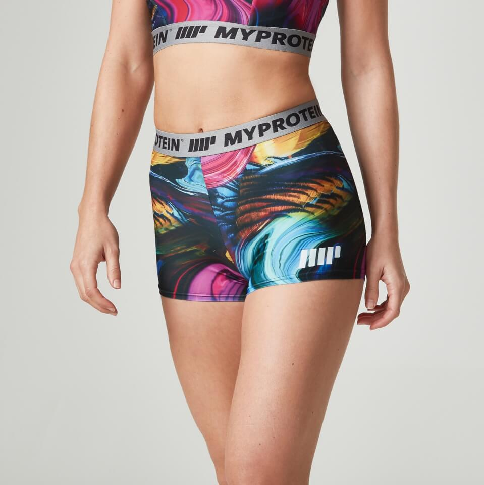 Foto Myprotein Women's Printed Shorts - Psychedelic Swirl, UK 8