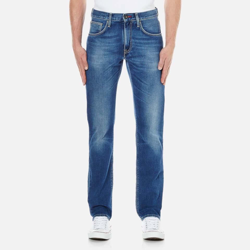Tommy Hilfiger Mens Denton Straight Leg Denim Jean Light Blue W32/l34