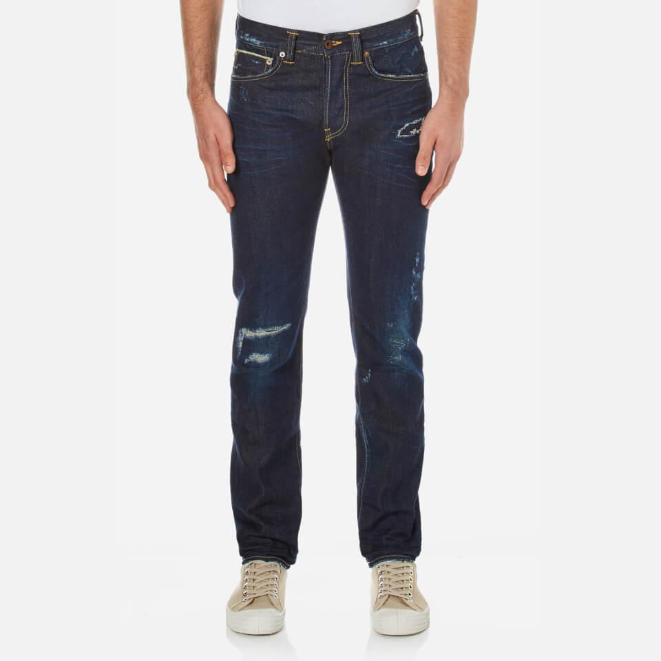 Edwin Mens Ed80 Slim Tapered Rainbow Selvedge Denim Jeans Dark Blue W30/l32