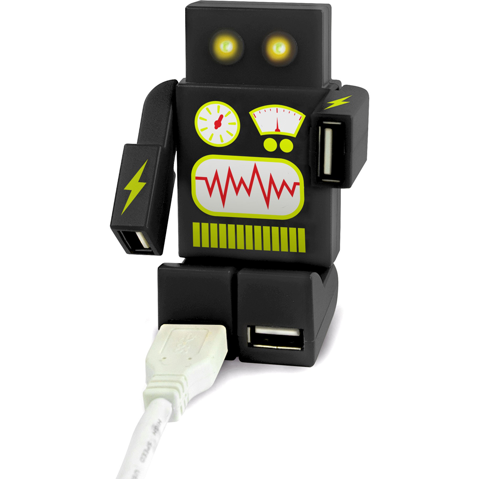 Robohub 2000 USB Hub Black