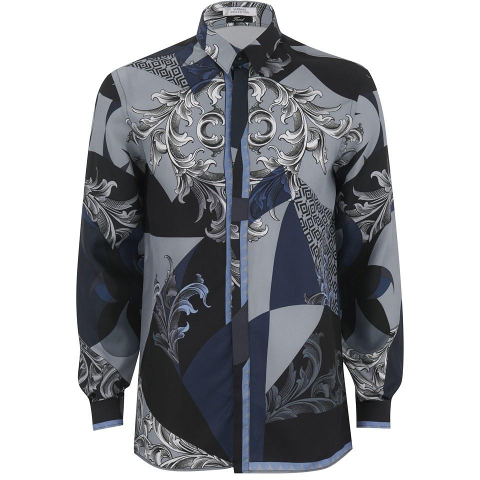 ef70faf836bbe1 Versace collection mens silk patterned shirt black free jpg 960x960 Patterned  silk shirt