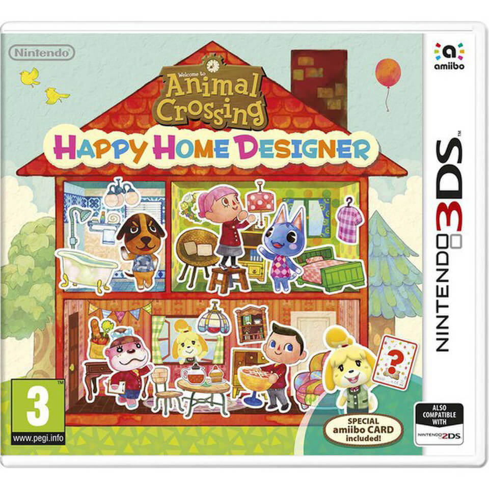 Animal Crossing: Happy Home Designer (incluye tarjeta Amiibo)