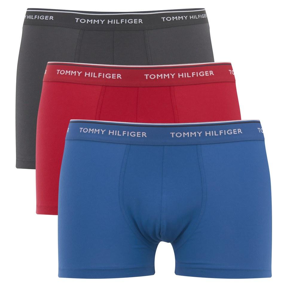 tommy hilfiger men 39 s stretch 3 pack trunk boxer shorts. Black Bedroom Furniture Sets. Home Design Ideas