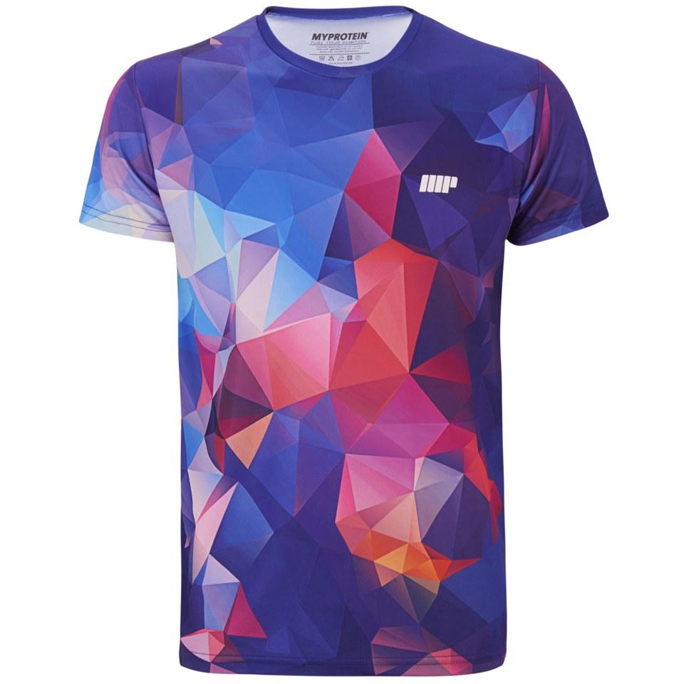 Foto Myprotein Men's Geometric Printed Training Shirt, Dark Blue, XXL