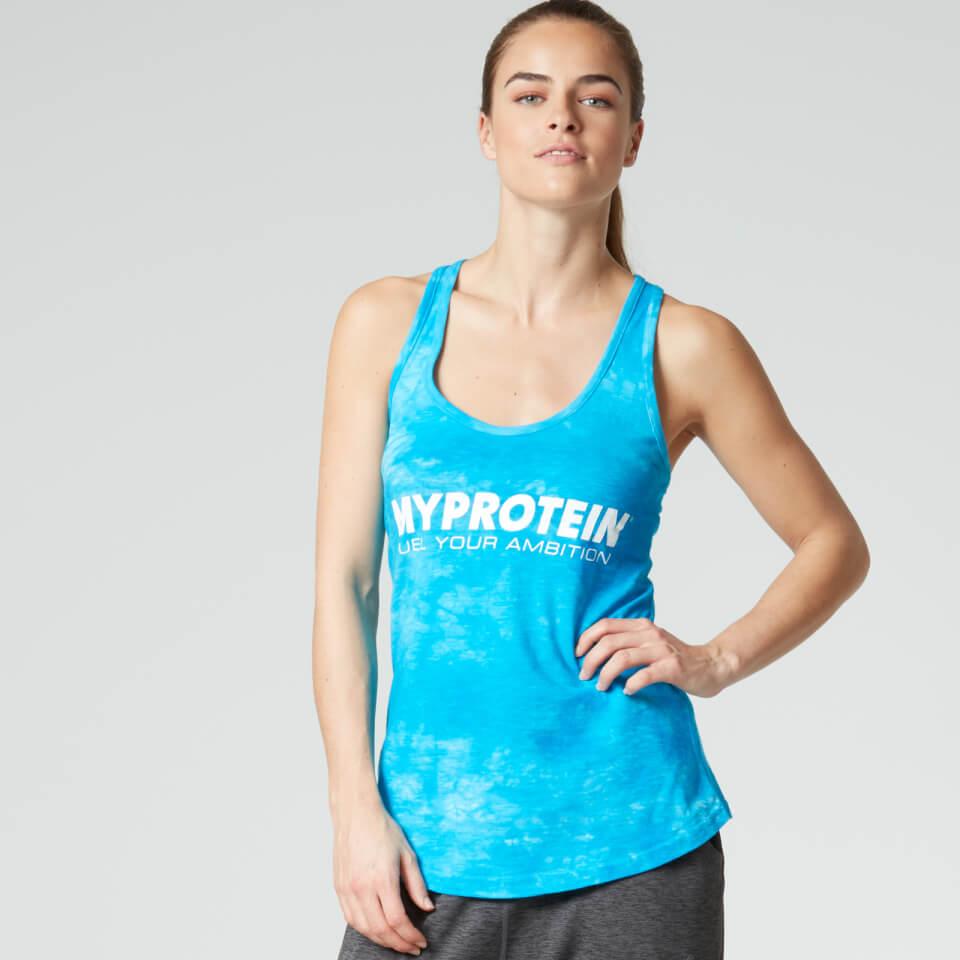Myprotein Women's Tie Dye Stringer Vest, Blue, XS/UK 6 11159099
