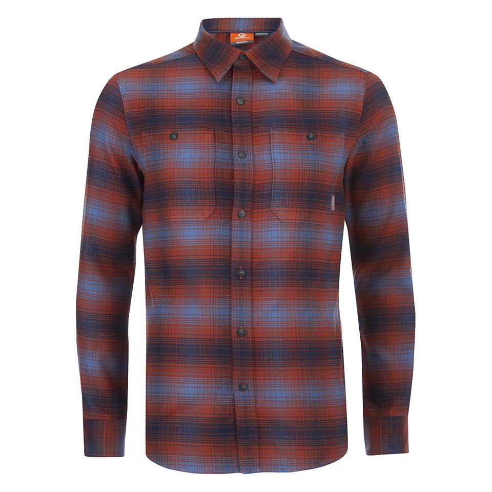 merrell-subpolar-flannel-shirt-dark-rust-s-red