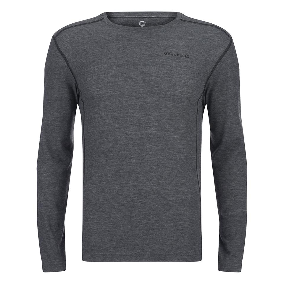 merrell-geom-long-sleeve-t-shirt-granite-heather-black-xl