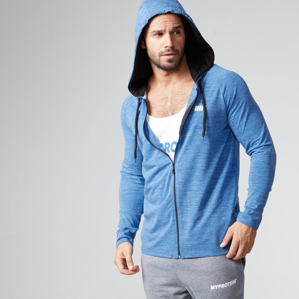 Foto Myprotein Men's Performance Zip Hoodie - Blue Marl - L Camicie e top