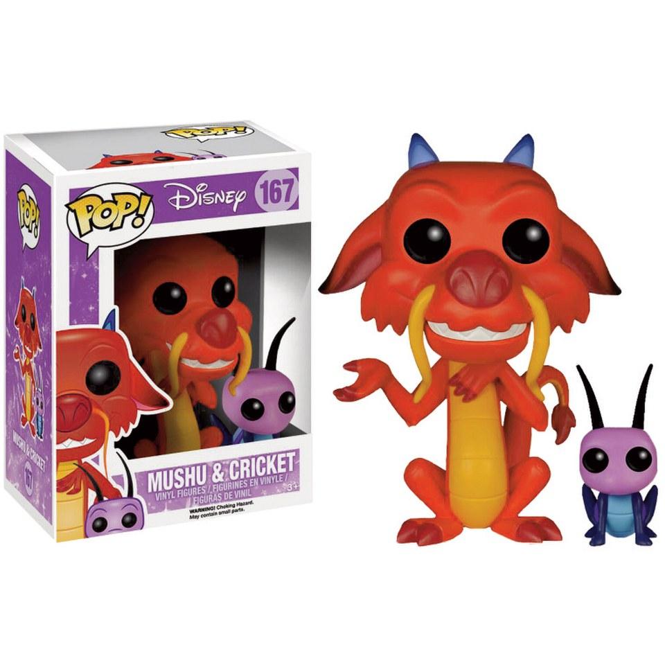 Disney Mulan Mushu Cricket Pop! Vinyl Figur