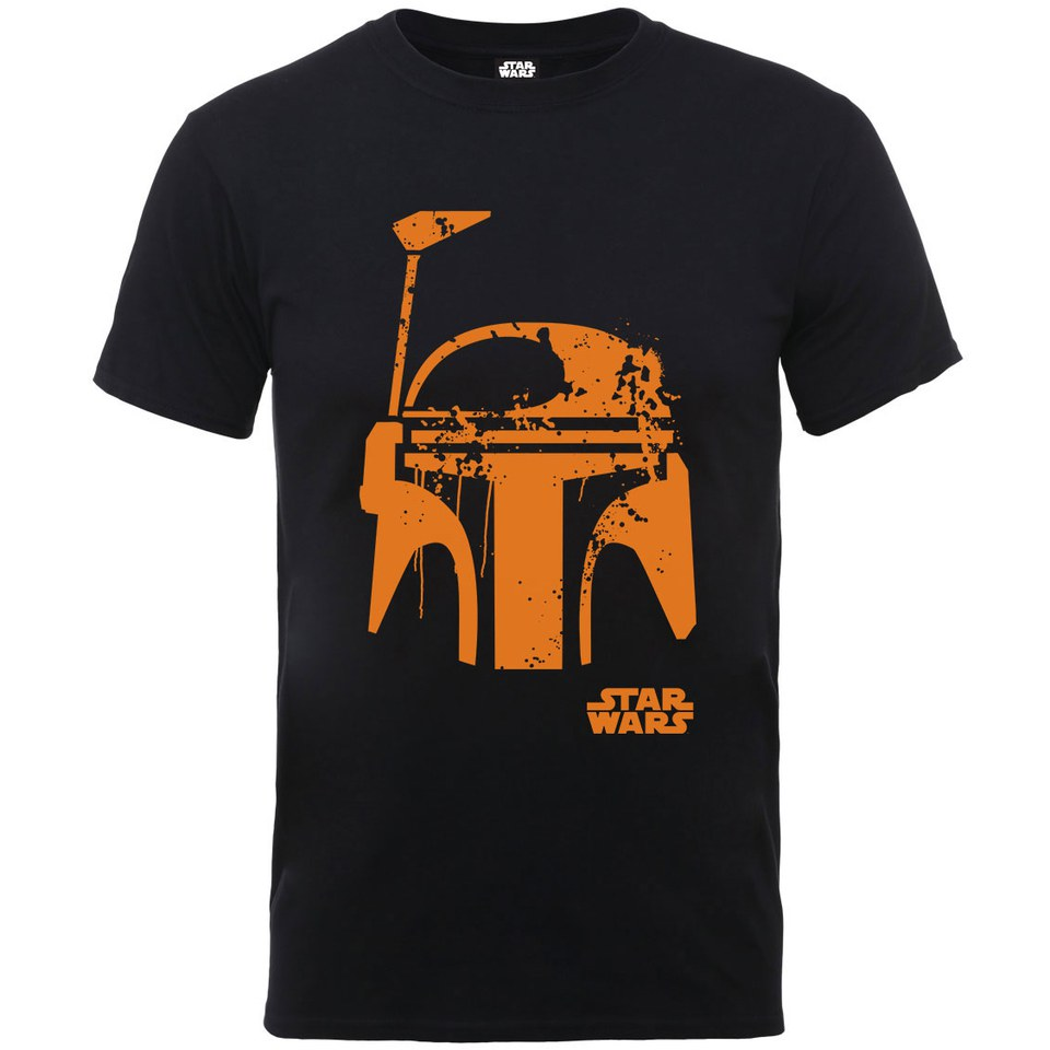Star Wars Men S Halloween Boba Fett Face T Shirt Black