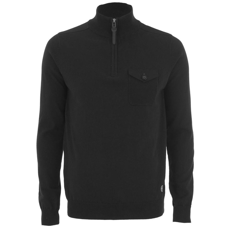 threadbare-men-lucca-14-zip-funnel-neck-pocket-jumper-black-s