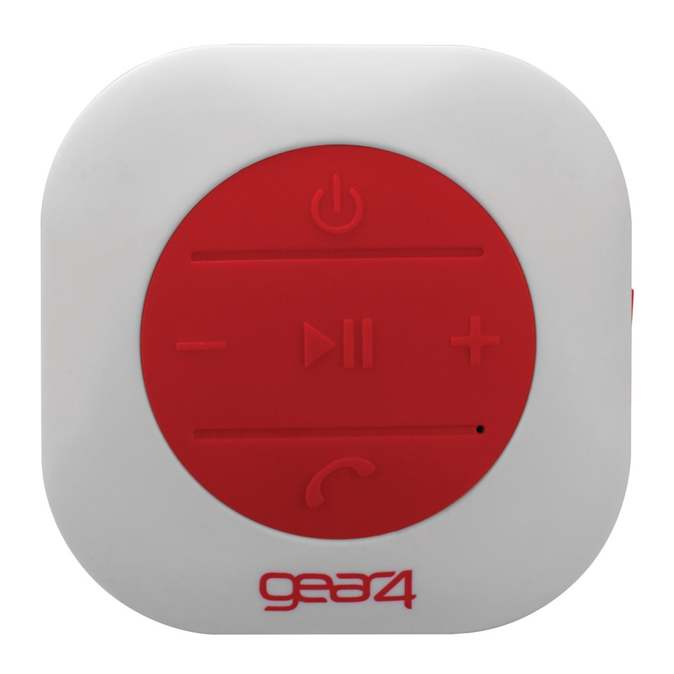 GEAR4 ShowerParty Waterproof Bluetooth Speaker Red