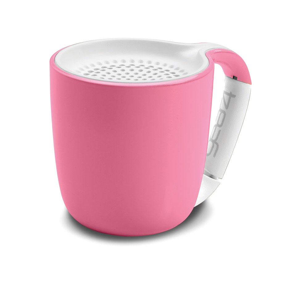 GEAR4 Espresso Portable Wireless Bluetooth Speaker Pastel Pink