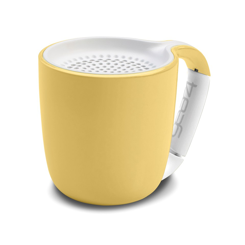 GEAR4 Espresso Portable Wireless Bluetooth Speaker Pastel Yellow