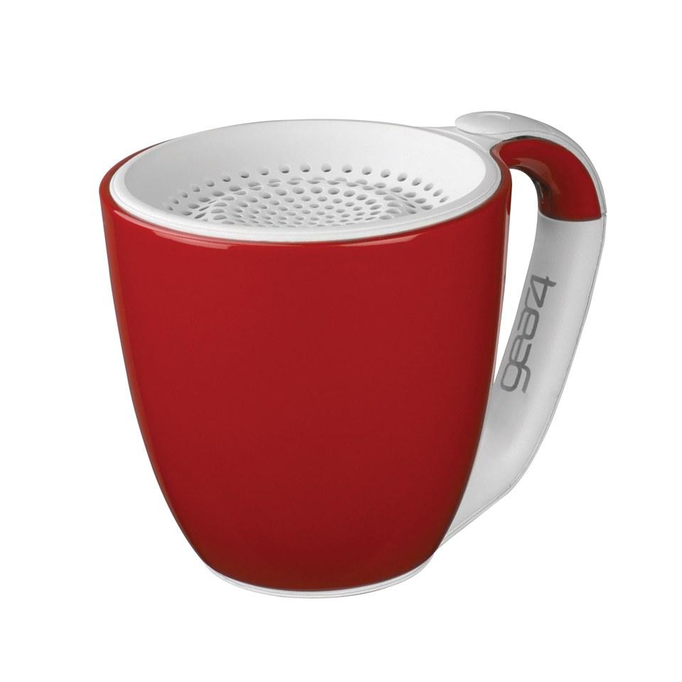 GEAR4 Double Espresso Portable Wireless Bluetooth Speaker Red