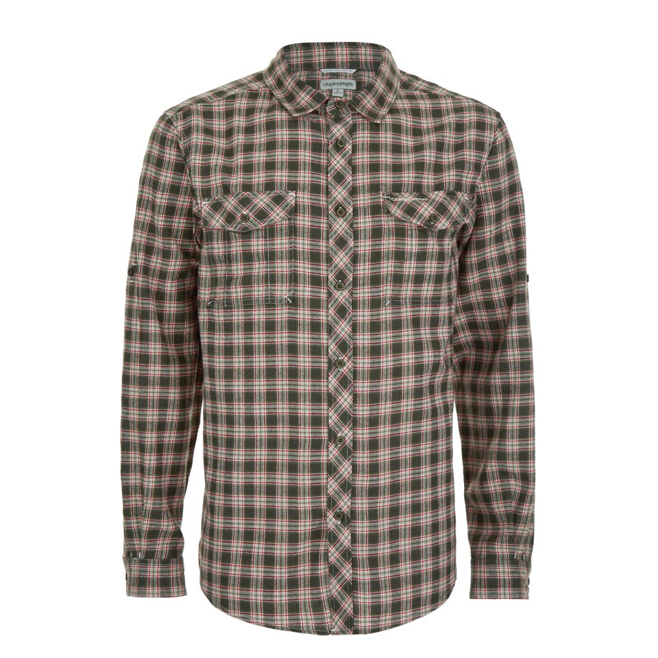 craghoppers-men-kiwi-checked-long-sleeve-shirt-dark-khaki-s